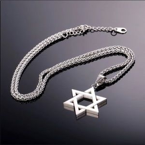 Other - New Stainless Steel Magen Star Of David Necklace